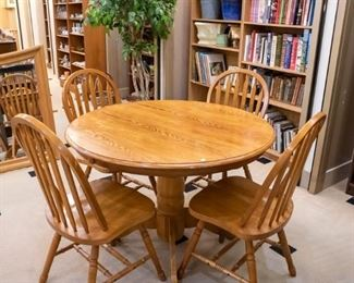 Sweet smaller oak table and four chairs!
