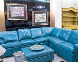 Ethan Allen leather sectional - SO NICE!