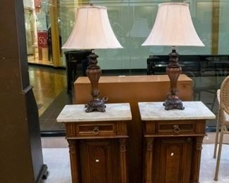 Marble top antique tables