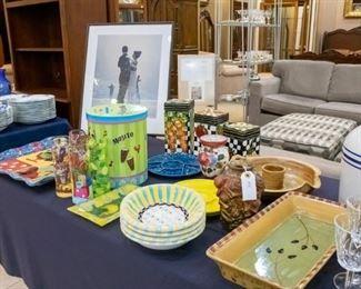 Mojito Set, trays, 'Jack Vettriano picture, etc.