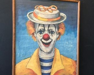Red Skelton girl clown litho dated 1950 - the picture is signed to (to Brent my friend by Red)