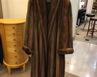 TAKING BIDS on this Natural Wild full length mink coat - Bisang (Neiman Marcus),  purchased 1991 with paid receipt. Appraised in 1991 for $21,500 (copy is attached to coat).