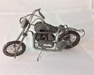 "Motorcycle Wire Art, 12"" W."