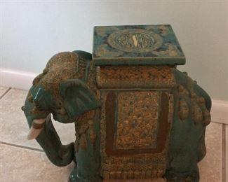"Vietnam Elephant Table, 18"" H."