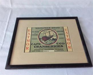 Mayflower Brand Cranberries, Cape Cod.