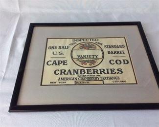 Cape Cod Cranberries.