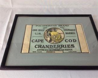 Pocahontas Brand Cape Cod Cranberries.