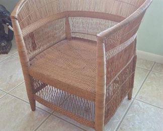 Malawi African Cane Chair.