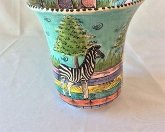 Hand Painted Vase, Penzo, Zimbabwe.