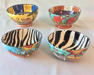 Hand Painted Bowls, Penzo, Zimbabwe.