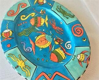 Hand Painted Plate, Penzo, Zimbabwe.