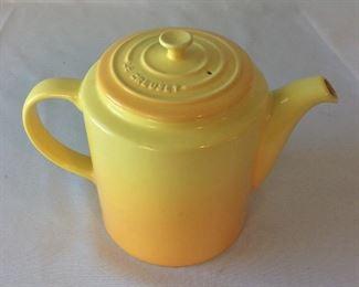 """Le Creuset Teapot, France, 7"""" H."""