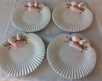 """Shell Plates, Portugal, 8 1/2"""" diameter."""