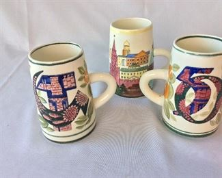 50th Anniversary of the Soviet Union Ceramic Mugs and Kremlin Moscow Ceramic Mug.