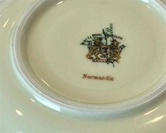 Royal Bayreur Normandie Bavaria Tea Cups and Saucers.