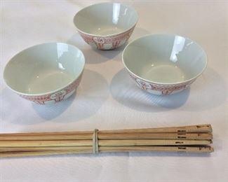 Bowls and Chopsticks.