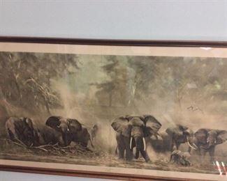 Elephants at Amboseli by David Shepherd, 1962.
