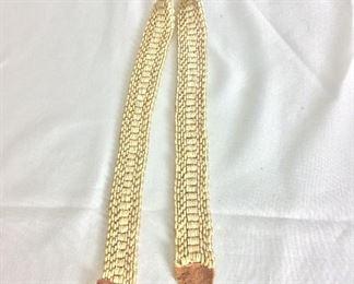 """Ostrich Shell Beads Belt, 28"""" L."""