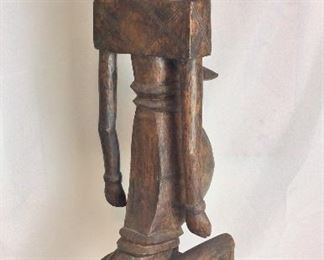 "Carved Wood Fertility Statue, 39"" H."