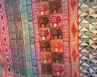 """Zimbabwe Potato Print Wall Hanging, 56"""" x 90""""."""