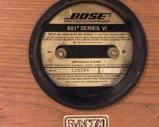 Bose 901 Series VI Direct Reflecting Loudspeaker System. Bose 901 Series VI Active Equalizer.