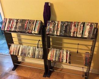 Hundreds of DVDs.