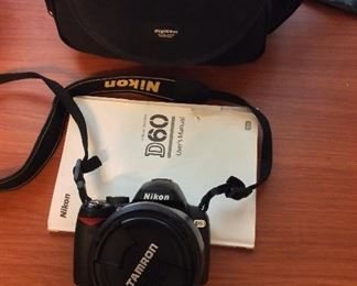Nikon D60 with Tamron Di II AF 18 - 250 mm Lens and Nikon 30 - 110 mm Lens.