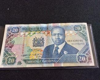 Kenya 20 Shillings, 1993.