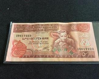 Ethiopia 10 Birr.