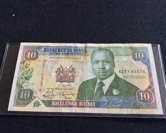 Kenya 10 Shillings, 1993.