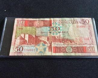 Somalia 50 Shillings, 1983.