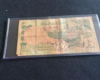 Somalia 10 Shillings, 1983.