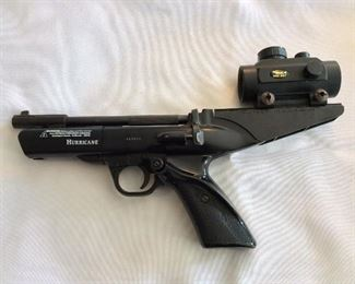 Wesley and Scott Hurricane Air Pistol .177 Caliber with BSA Red Dot Sight RD30.