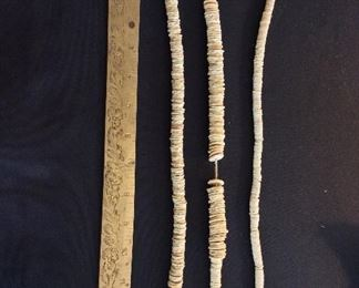 Strands of Ostrich Shell Beads, Zimbabwe.