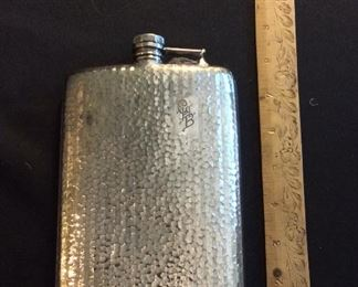 Antique Silver Plate Flask.