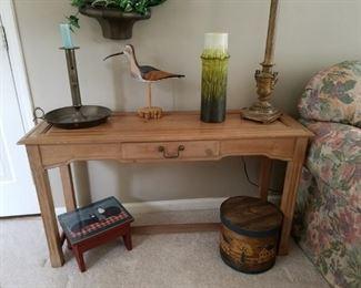 distressed sofa/console table $75