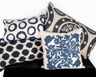 Variety of Blue Toned Designer Pillows
