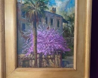 "John Carroll Doyle signed original oil painting - Charleston SC, 20"" x 16"", purchased in 2004 at the gallery"
