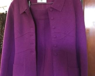 Chanel suit sz 4 purple / wood