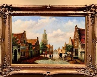 Original oil painting signed M. Gabriel