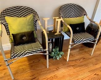 On-trend outdoor/indoor chairs - there are 8 total!