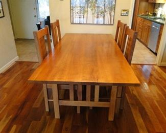 Popanoosec Farm Dining Room Table and 6 Chairs original cost $6,000.