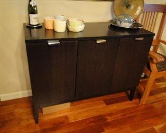 Triple door cabinet black wood $100