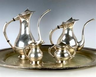 Japanese .950 Sterling Silver Tea & Coffee Service
