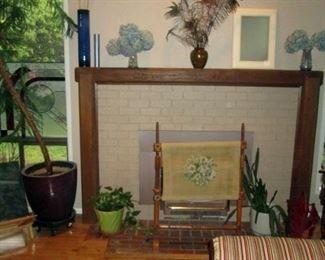 Living Room:  Vases, Plant, Needle Point Stretcher,