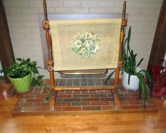 Living Room:  Needle Point Stretcher