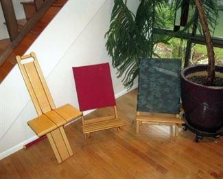 Living Room:  3 Folding Chairs