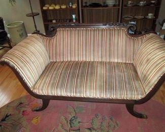 Living Room:  Antique Sleigh Sofa