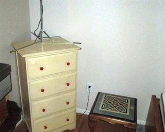 Dining Room:  Small Dresser, Needle Point Stool
