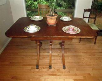 Kitchen Area:  Vintage Drop Leaf Table
